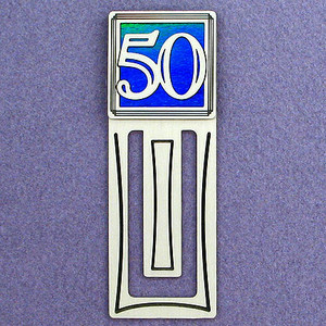 50th Engraved Bookmark