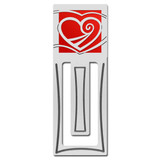 Heart Engraved Bookmark
