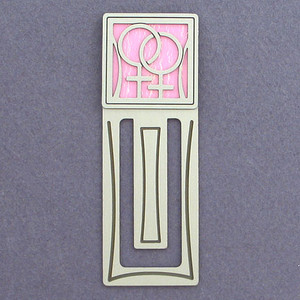 Lesbian Symbol Engraved Bookmark