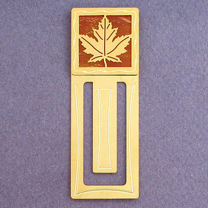 Maple Leaf Engraved Bookmark