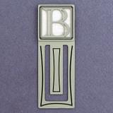 Monogram Letter B Engraved Bookmark