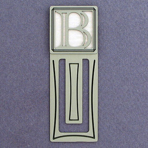Monogram Letter B Engraved Bookmark