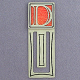 Monogram Letter D Engraved Bookmark