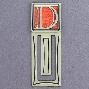 Monogram Letter D Engraved Bookmark