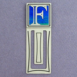 Monogram Letter F Engraved Bookmark