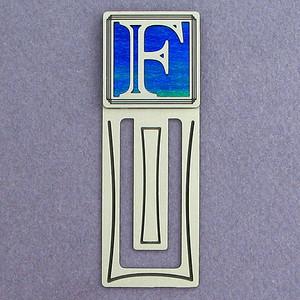 Monogram Letter F Engraved Bookmark