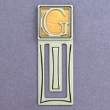 Monogram Letter G Engraved Bookmark