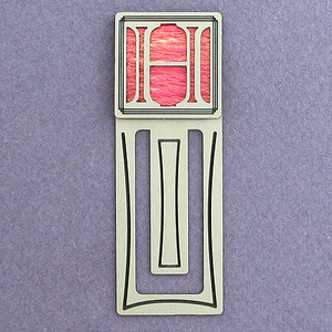 Monogram Letter H Engraved Bookmark