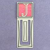 Monogram Letter J Engraved Bookmark