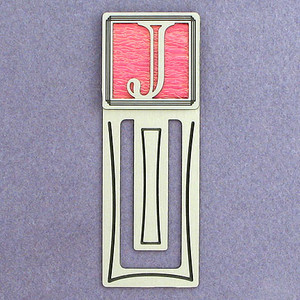 Monogram Letter J Engraved Bookmark
