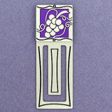 Grapes Engraved Bookmark