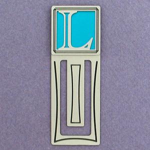 Monogram Letter L Engraved Bookmark