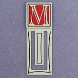 Monogram Letter M Engraved Bookmark