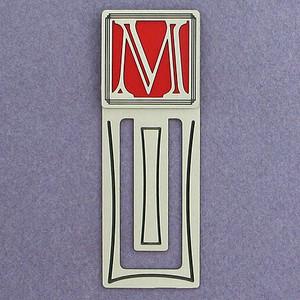 Monogram Letter M Engraved Bookmark