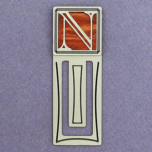 Monogram Letter N Engraved Bookmark