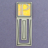 Monogram Letter P Engraved Bookmark