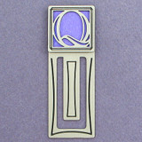 Monogram Letter Q Engraved Bookmark