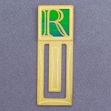 Monogram Letter R Engraved Bookmark