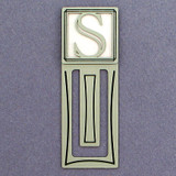 Monogram Letter S Engraved Bookmark