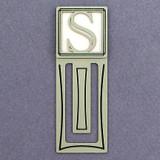 Monogram Letter S Engraved Bookmark