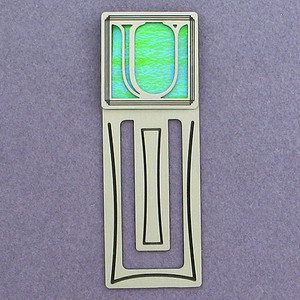 Monogram Letter U Engraved Bookmark