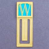Monogram Letter W Engraved Bookmark