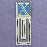 Monogram Letter X Engraved Bookmark
