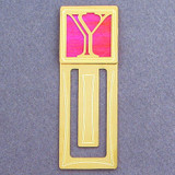 Monogram Letter Y Engraved Bookmark