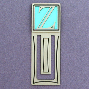 Monogram LetterZ Engraved Bookmark