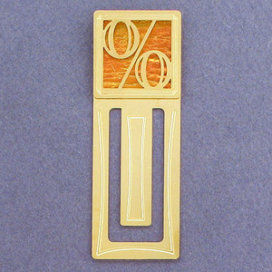 Percent Sign Engraved Bookmark