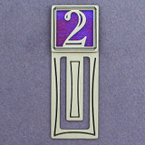 Number Two Symbol Engraved Bookmark