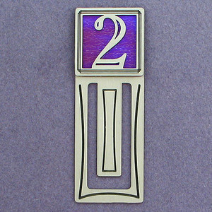 Number Two Symbol Engraved Bookmark