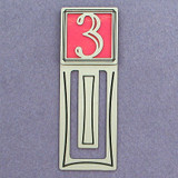 Number Three Symbol Engraved Bookmark