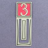 Number Three Symbol Engraved Bookmark