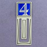 Number Four Symbol Engraved Bookmark