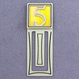 Number Five Symbol Engraved Bookmark