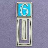 Number Six Symbol Engraved Bookmark