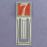 Number Seven Symbol Engraved Bookmark