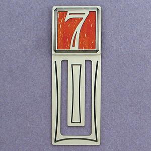 Number Seven Symbol Engraved Bookmark