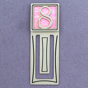 Number Eight Symbol Engraved Bookmark