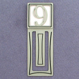 Number Nine Symbol Engraved Bookmark