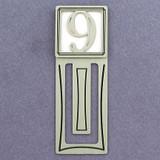 Number Nine Symbol Engraved Bookmark