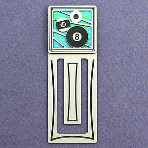 Billiards Engraved Bookmark
