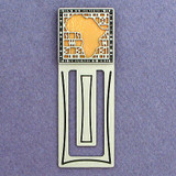 African Continent Engraved Bookmark