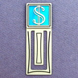 Dollar Symbol Engraved Bookmark
