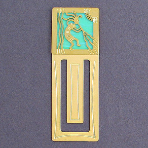 Kokopelli Engraved Bookmark