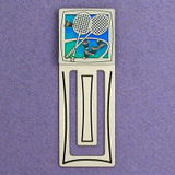Badminton Engraved Metal Bookmark