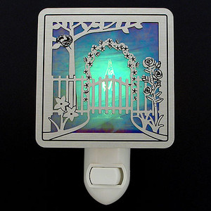 Spring Garden Gate Nightlight