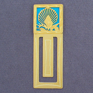 Seashells Engraved Bookmark