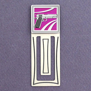 Gun Engraved Bookmark